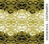 snake skin scales texture.... | Shutterstock .eps vector #1363966853