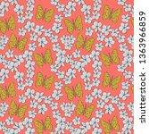seamless pattern plumeria... | Shutterstock .eps vector #1363966859