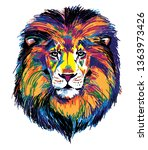 the head of a lion.... | Shutterstock .eps vector #1363973426