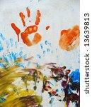 artwork of children finger... | Shutterstock . vector #13639813