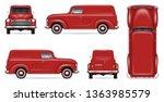 Retro Delivery Van Vector...