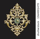 golden elements in baroque ... | Shutterstock . vector #1364001470