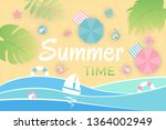 summer landscape. aerial view... | Shutterstock .eps vector #1364002949