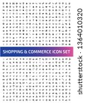 commerce vector icon set | Shutterstock .eps vector #1364010320