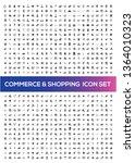 commerce vector icon set   Shutterstock .eps vector #1364010323