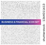 business vector icon set | Shutterstock .eps vector #1364011613
