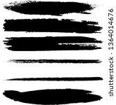 a set of brush strokes of black ... | Shutterstock .eps vector #1364014676