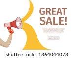 megaphone announcement vector...   Shutterstock .eps vector #1364044073