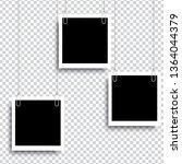 retro realistic photo frame... | Shutterstock .eps vector #1364044379