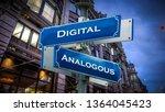 street sign digital versus... | Shutterstock . vector #1364045423