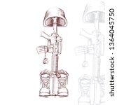 vector cross hatch illustration ... | Shutterstock .eps vector #1364045750