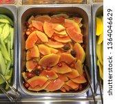 top biew fruit orange in... | Shutterstock . vector #1364046629