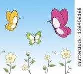 vector illustration of cartoon...   Shutterstock .eps vector #136406168