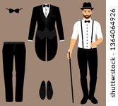 men's tuxedo. gentleman. men's...   Shutterstock .eps vector #1364064926