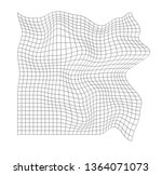 distorted grid pattern.... | Shutterstock .eps vector #1364071073