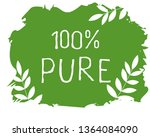 100 pure label and high quality ... | Shutterstock .eps vector #1364084090