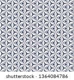 vector geometric seamless... | Shutterstock .eps vector #1364084786