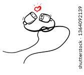 simple illustration for... | Shutterstock .eps vector #1364092139