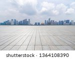 panoramic skyline  with empty... | Shutterstock . vector #1364108390