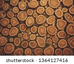 flat lay of wooden stumps.... | Shutterstock . vector #1364127416