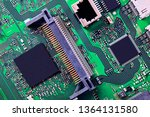 electronic circuit board close... | Shutterstock . vector #1364131580