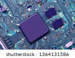 electronic circuit board close... | Shutterstock . vector #1364131586