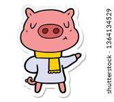 sticker of a cartoon content... | Shutterstock . vector #1364134529