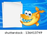 illustration of a fish with... | Shutterstock .eps vector #136413749