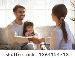 preschool daughter with father... | Shutterstock . vector #1364154713