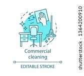 commercial cleaning concept...   Shutterstock .eps vector #1364200910