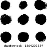 grunge round shapes. abstract... | Shutterstock .eps vector #1364203859