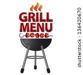 grill menu card design | Shutterstock .eps vector #136420670