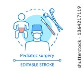 pediatric surgery concept icon. ...   Shutterstock .eps vector #1364217119