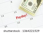 time for payday message with a... | Shutterstock . vector #1364221529