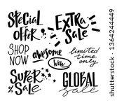 vector handwritten sale phrases ...   Shutterstock .eps vector #1364244449