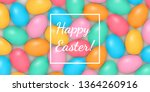 color eggs easter greeting card.... | Shutterstock .eps vector #1364260916