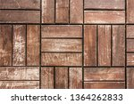old and aged wooden textured... | Shutterstock . vector #1364262833