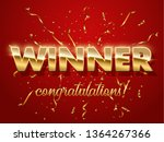 winner golden sign with... | Shutterstock .eps vector #1364267366