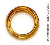 golden shining circle text... | Shutterstock .eps vector #1364267390