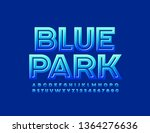 vector logotype blue park with... | Shutterstock .eps vector #1364276636