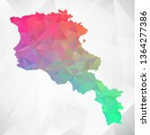 map of armenia. colorful... | Shutterstock .eps vector #1364277386