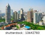 china shanghai  puxi skyline | Shutterstock . vector #13642783