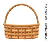 wicker basket icon | Shutterstock .eps vector #1364289119