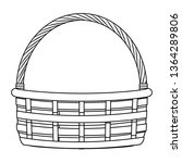 wicker basket icon black and... | Shutterstock .eps vector #1364289806