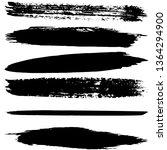 a set of brush strokes of black ... | Shutterstock .eps vector #1364294900