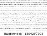 seamless monochrome pattern... | Shutterstock .eps vector #1364297303
