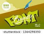 font presentation template....   Shutterstock .eps vector #1364298350