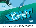font presentation template....   Shutterstock .eps vector #1364298356