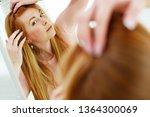 woman hair problems  | Shutterstock . vector #1364300069