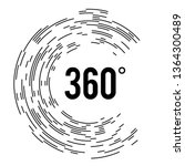 angle 360 degrees sign icon.... | Shutterstock .eps vector #1364300489
